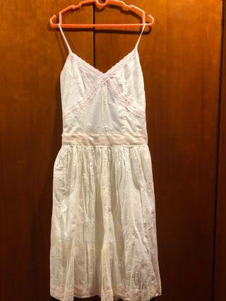 White Lace Dress with sweet pink trimmings