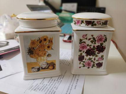 🚚 陶瓷 收納罐 密封罐 儲物罐 100元兩隻含運費出清