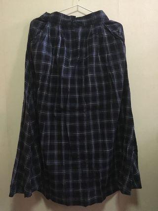 Bershka Checkered Dress 藍色格仔長裙