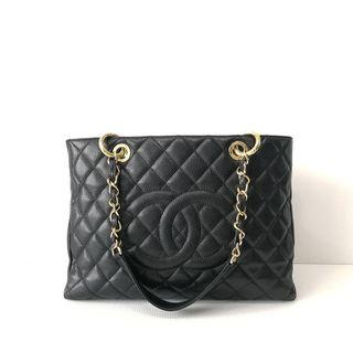 Authentic Chanel GST Black Caviar Ghw s13
