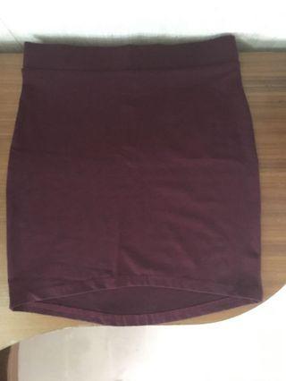 H&M Skirt 酒紅窄身裙