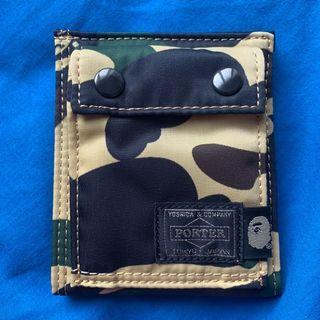 #GayaRaya 💯Original Porter X Bape First Camo Wallet Size S