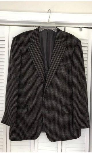 Ermenegildo Zegna Houndstooth Cashmere Sports Coat Jacket