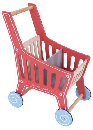 Bigjigs Wooden Shopping Cart