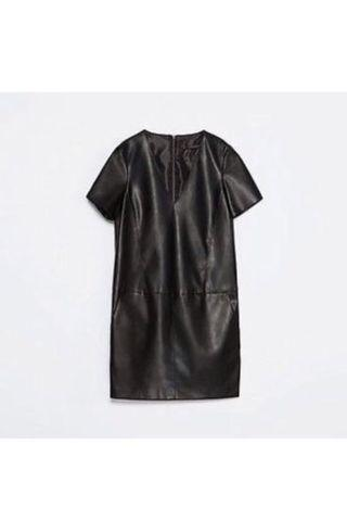 Zara leather dress size m