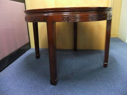 Rosewood dinning table and chair set