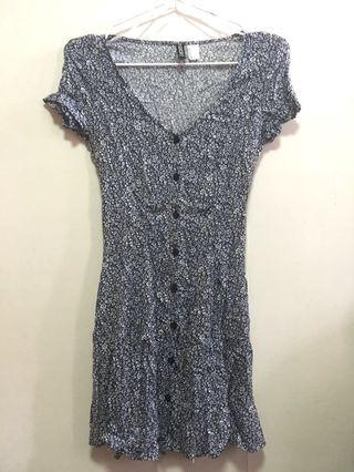 H&M Blue Floral Dress 藍色碎花連身裙