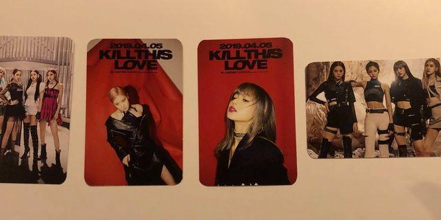 Blackpink Kill This Love Double sided Photocards