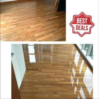 Parquet wooden polishing lacquering varnishing