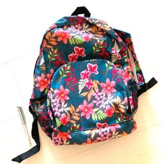 Floral backpack lightweight and foldable