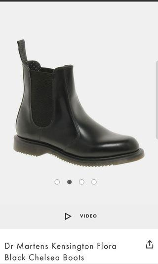 Dr Martens Kensington Flora Black Chelsea Boots (Size UK5)