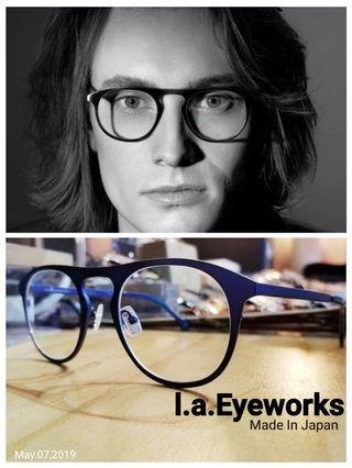 l.a. Eyeworks 飛行員框型 titanium眼鏡  made in japan Art Vision 配鏡服務  原USD 440 激罕一副