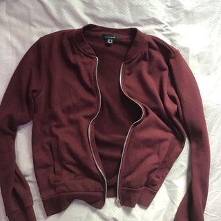🚚 Maroon Cotton Bomber Jacket