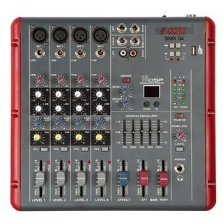 4 Channel Slim Console Audio Mixer
