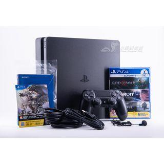 【全新僅拆封】免運 索尼 sony PS4 slim CHU-2218A 極致黑 HITS Bundle 同捆組 贈遊戲
