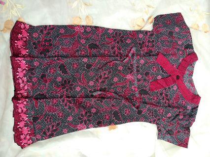 Dress batik 8-12 thn