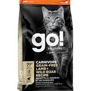 GO! Cat Food Carnivore Lamb & Wild Boar Recipe 3lbs