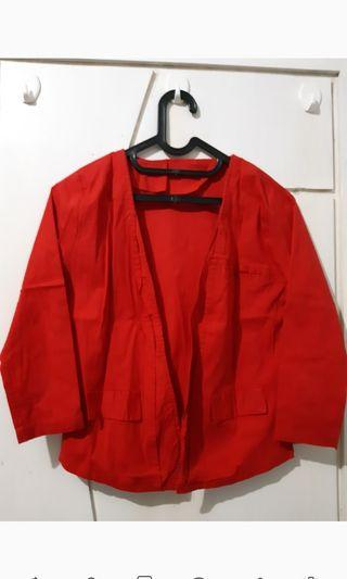 #BAPAU Blazer katun Merah