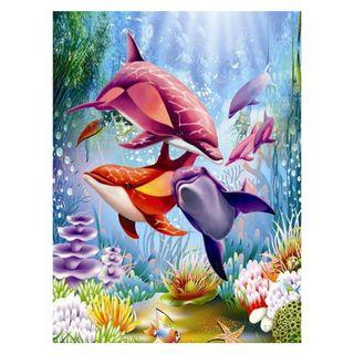 Dolphin DIY PAINTING BY NUMBER (UNFRAMED)