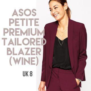 **REDUCED** ASOS PETITE Premium Tailored Blazer (Wine)