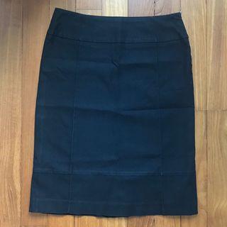 🚚 Black Formal Office Skirt