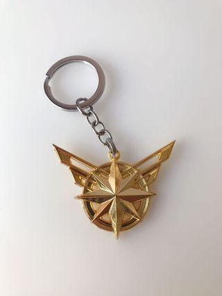 🚚 Captain Marvel Metal Keychain