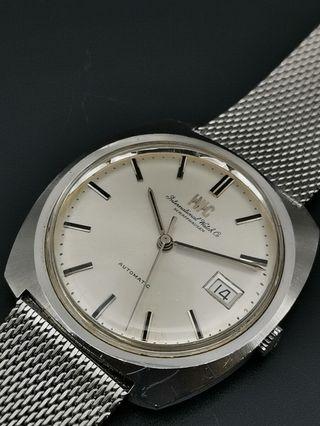 古董 IWC 自動上弦全鋼日曆手錶