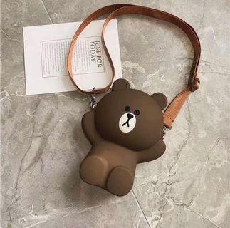 韓款小熊斜孭袋
