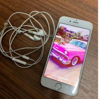 蘋果APPLE原廠公司貨iPhone6 64G銀色手機 附原廠盒裝+耳機+說明書