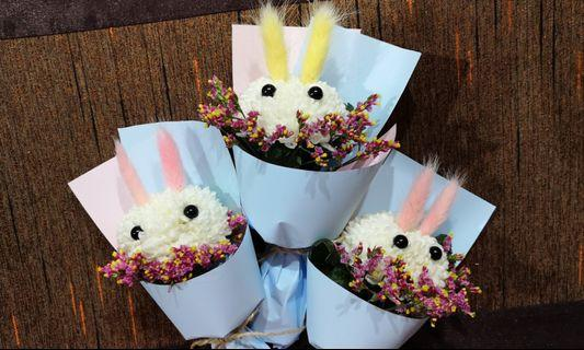 🚚 <<Mother's Day>> Cute Small Bunny Bouquet!