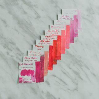 墨水分裝⭐️紅、粉色系