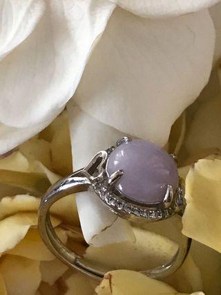 🚚 天然紫羅蘭翡翠戒指活圍