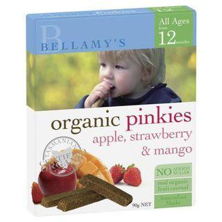 Bellamy Organics Pinkies Apple Strawberry And Mango