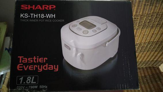 rice cooker sharp ks-th18-wh