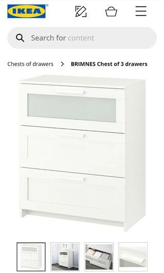 BRIMNES Chest of 3 drawers