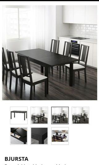 Big extendable dinning table