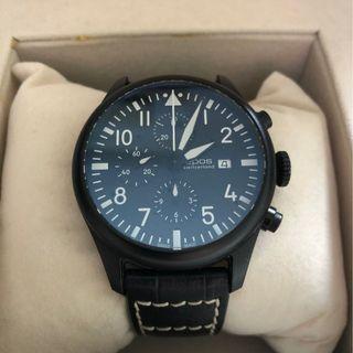 🎉 Raya Sales ! Automatic EPOS Sportive Pilot Chronograph Black PVD Steel
