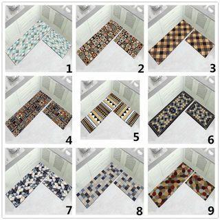 2pcs/set Nordic geometric tribal kitchen mat carpet rug