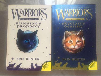 Erin Hunter Warriors Skyclan's Destiny & Bluestar's Prophecy