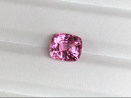 SPN008446 - Singapore Nanyang lab certified natural pink spinel without treatment