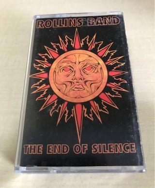 Rollins Band The End Of Silence Cassette USA Original! Henry Rollins Black Flag punk