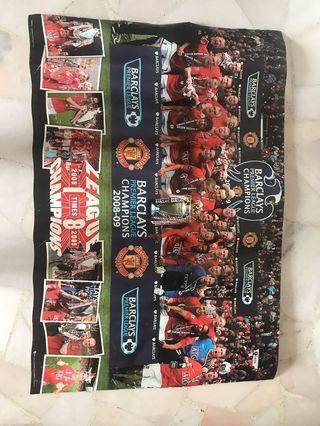Manchester united poster man utd