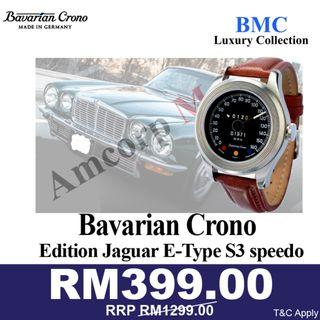 Bavarian Crono Edition Jaguar E-Type S3 speedo watch