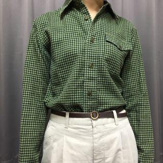 🚚 古著格紋襯衫 日本製