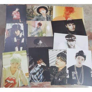 BTS suga unofficial armypedia postcard set