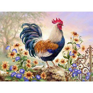 Rooster - Painting By Numbering (DIY - Unframed)