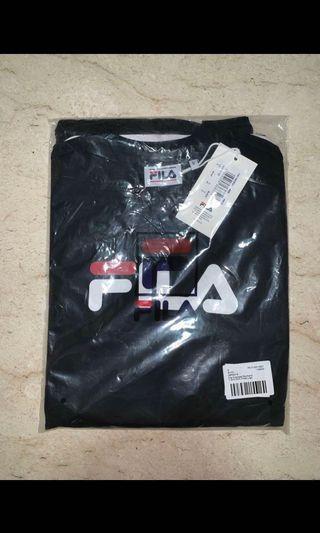 🚚 Fila Black Logo Basic Tee