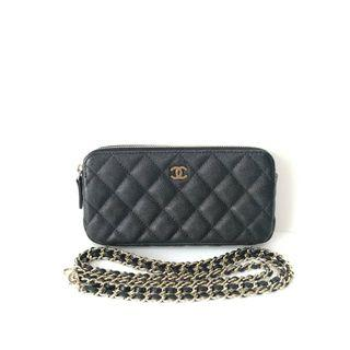 Authentic Chanel Classic Wallet on Chain WOC