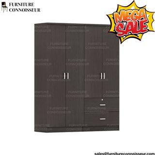 140cm - 4 Door Wardrobe with 2 Drawers