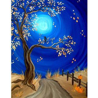 Night Road & Tree - DIY Painting by Numbering (Unframed)